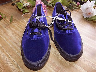 07679896577 Vintage 90s Deep Purple Velvet VANS Shoes Womens size 7 1 2 Made in U.S.A!