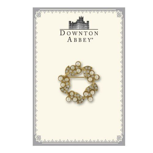 Downton Abbey Collection Pearl and Crystal Wreath Pin 17545: Amazon.co.uk: Jewellery