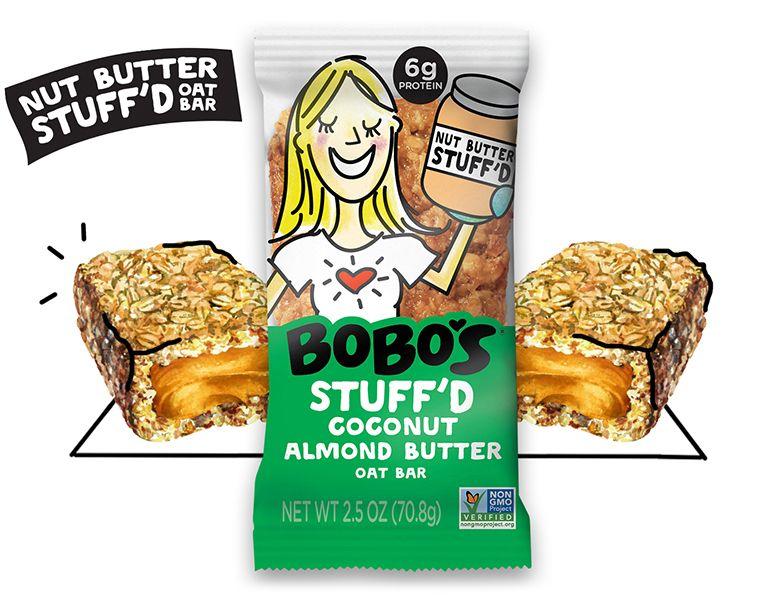 Bobos oat bars stuffd coconut almond butter purchased