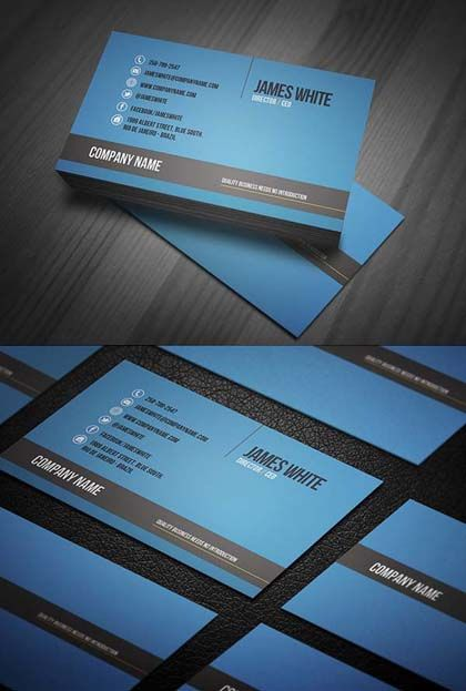 Modern stylish business cards design7 printing pinterest modern stylish business cards design7 reheart Choice Image