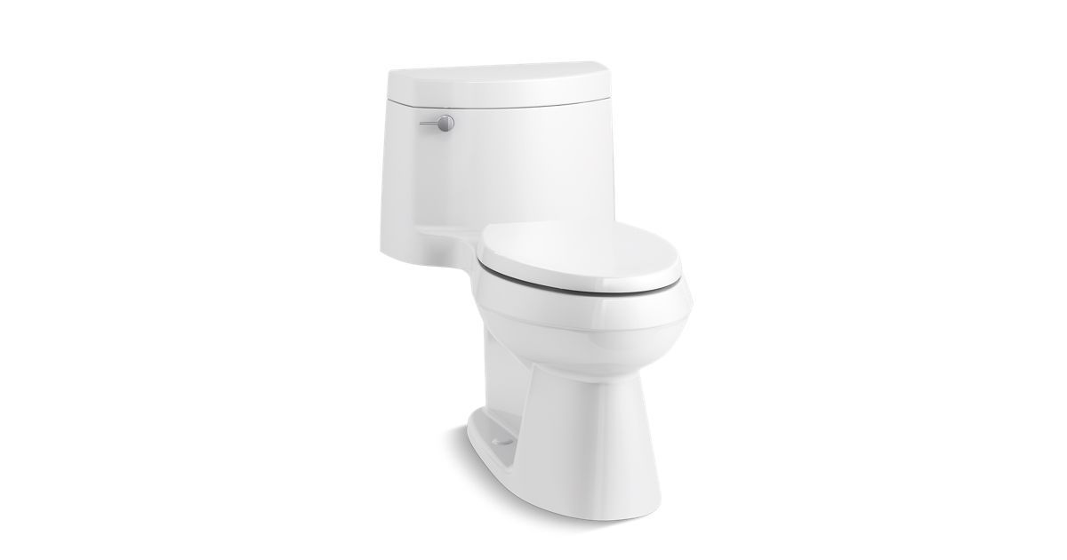 The K 3619 One Piece Toilet Features A Convenient Chair Like Height And Elongated Bowl For Comfortable Use As Wel Toilet One Piece Toilets Traditional Toilets