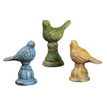3 Pc Bird Decor Set Bird Decor Green Home Decor Ceramic Birds