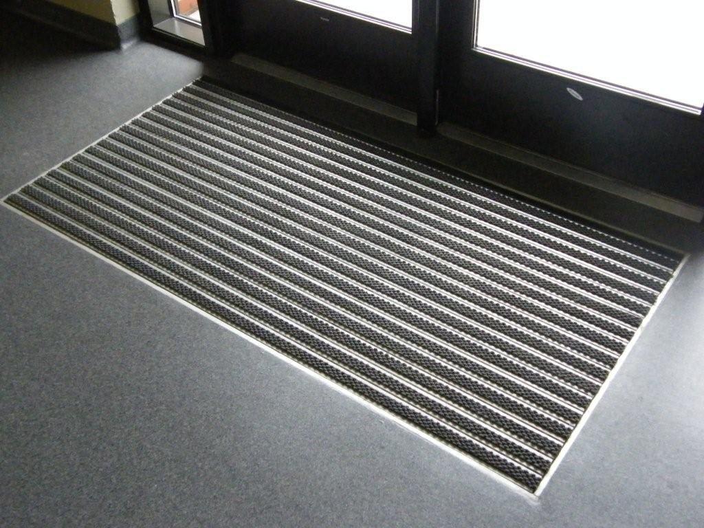 Aluminum Roll Up mats  Refurbished recessed aluminum mat