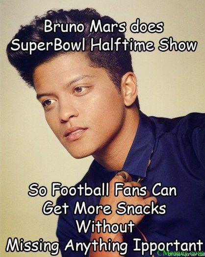 Bruno Mars Superbowl Halftime Show 2014 Memes Bruno Mars Halftime Show Bruno