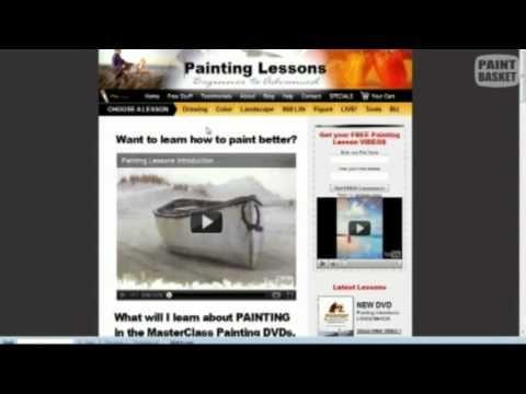Paint Basket Art TV - Episode 7 | Vídeos aprender pintar, barios ...