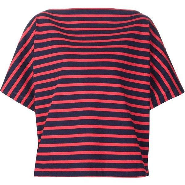 de Sander Camiseta 551 gustó ❤ Jil entallada en Me Polyvore Presentando cad a rayas nqwnxSgR