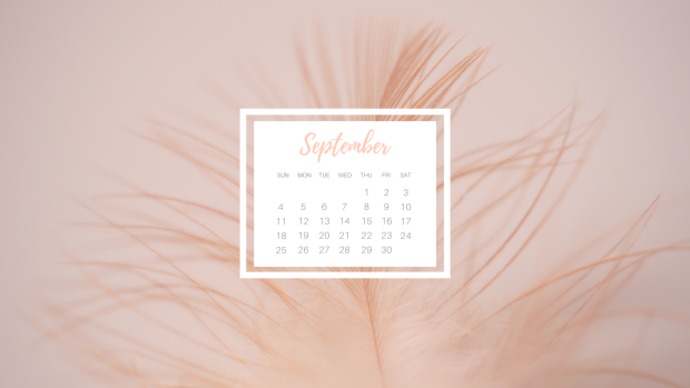 Free downloadable monthly desktop and printable September calendar