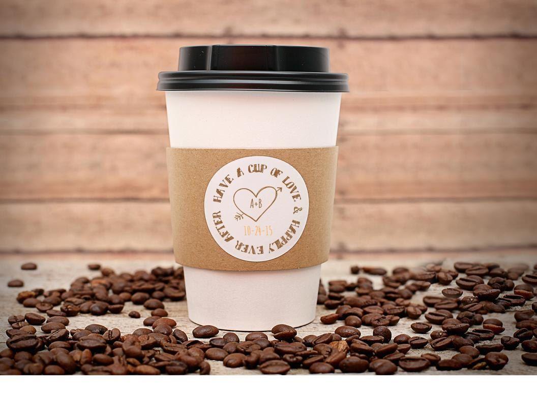Custom printed coffee cup sleeves hot cocoa bars hot