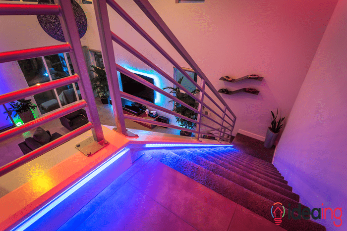 Philips hue lighting stairs hue lights pinterest interiors philips hue lighting stairs aloadofball Gallery