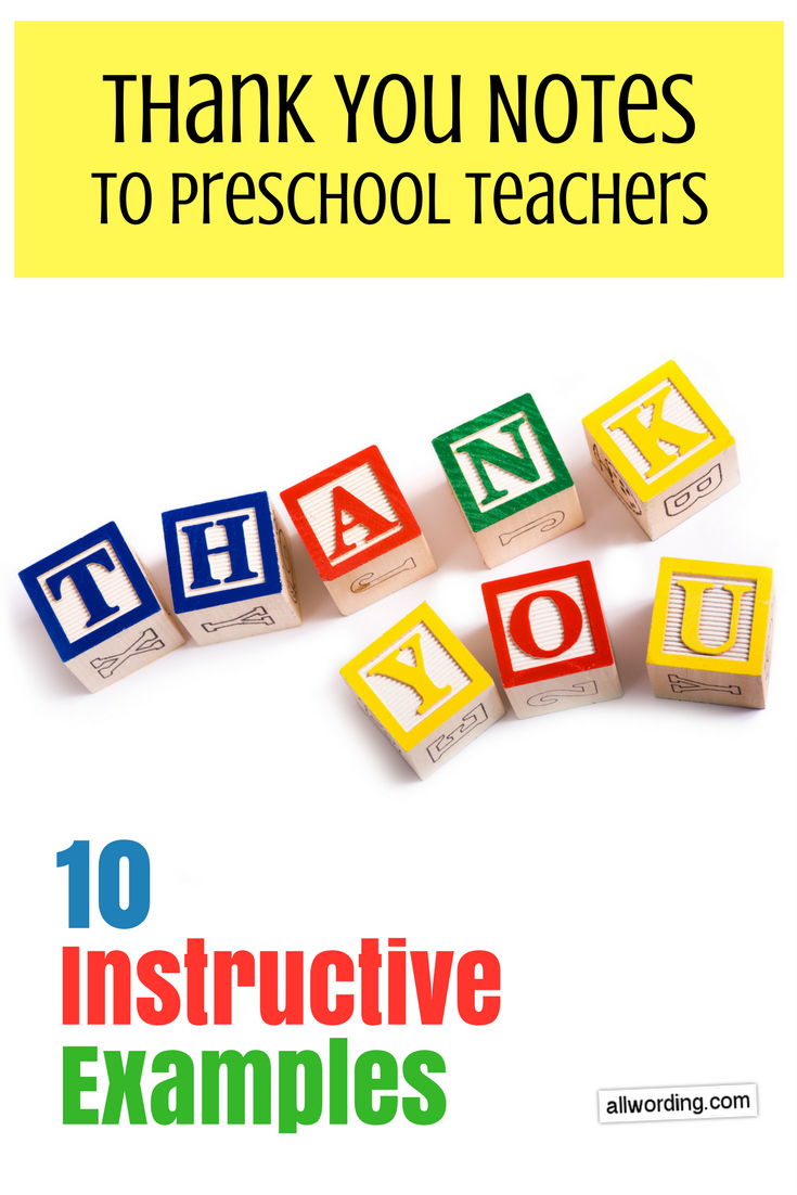 Thank You Notes To Daycare Teachers  Instructive Examples