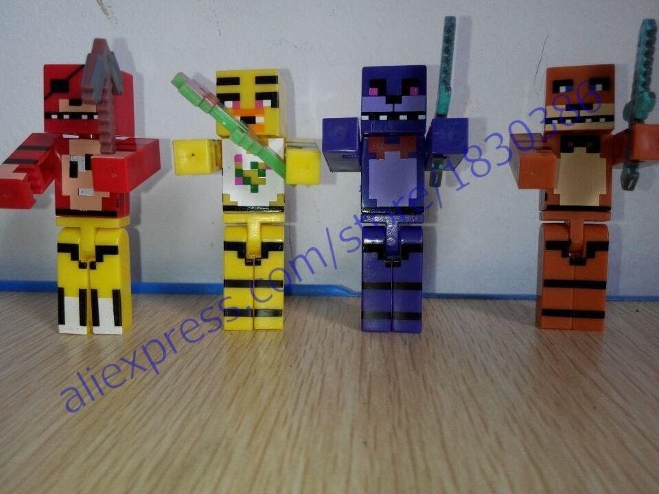Hot Pcsset Model Minecraft Five Nights At Freddys Juguetes FNAF - Minecraft fnaf spielen