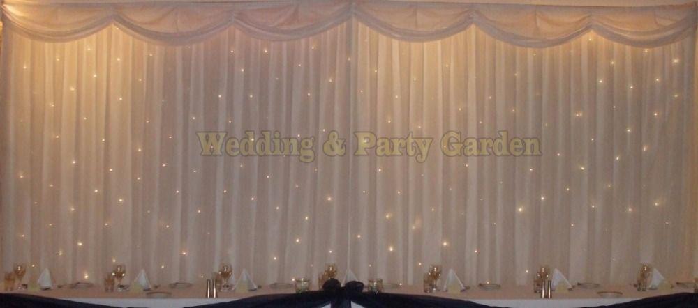 6m 20ft W X 3m 10ft H White Wedding Backdrop
