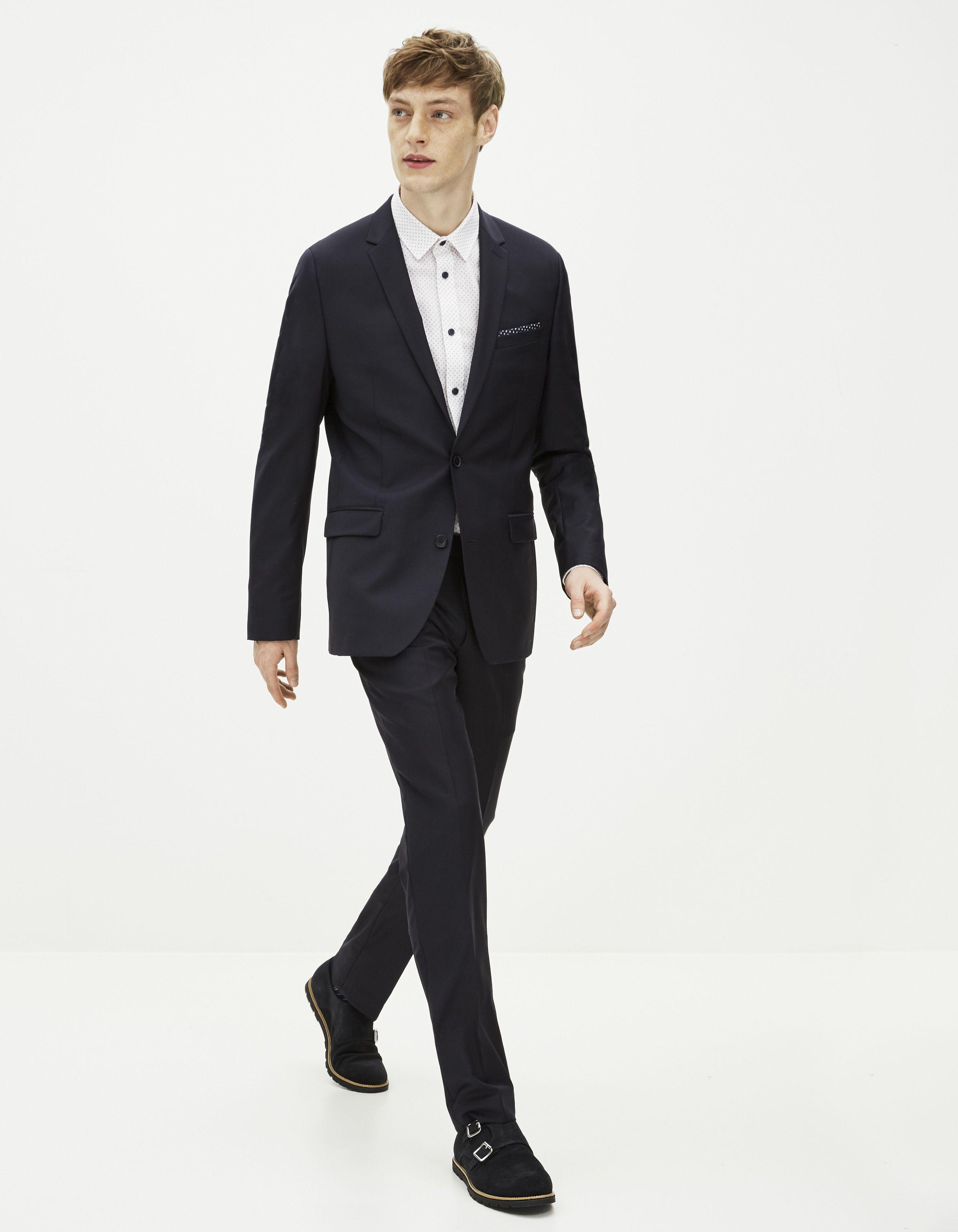 Veste costume laine et stretch - FCUPLANE - Celio France