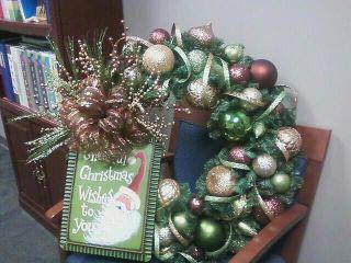 My Christmas wreath my mom made.....