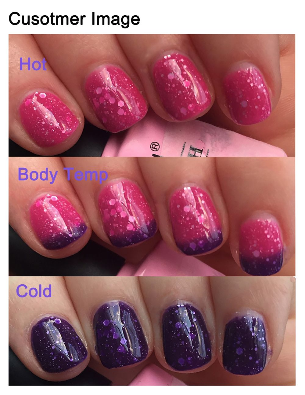 Summer is coming, it\'s time to do some color changing gel nail ...