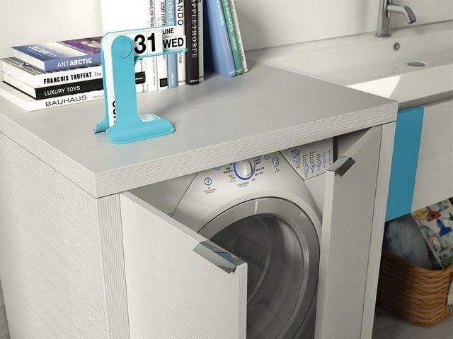Lavanderia bagno ~ Qubo lavanderia composizione 41 iperceramica mobili bagno