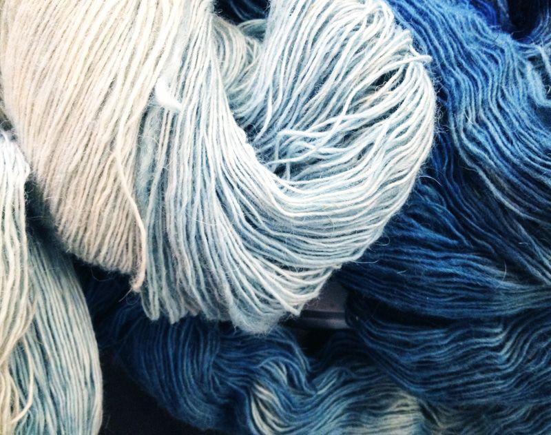 indigo dyed yarn. mary pettis sarley. twirl. napa
