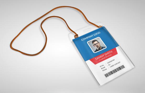 Free Employee ID Card Design Templates Mockups Graphic - Card template free: employee id card template