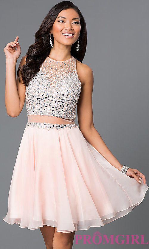 Image of jewel-embellished bodice short JVN by Jovani dress. Style: JO-JVN-JVN27600 Front Image