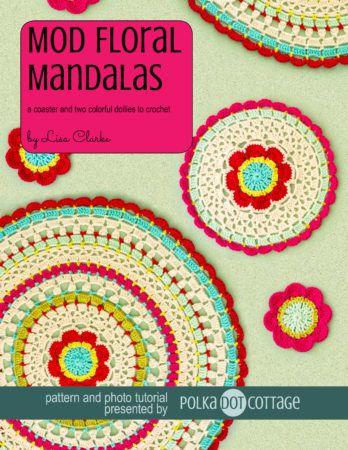Mod Floral Mandalas crochet pattern and tutorial at Polka Dot Cottage