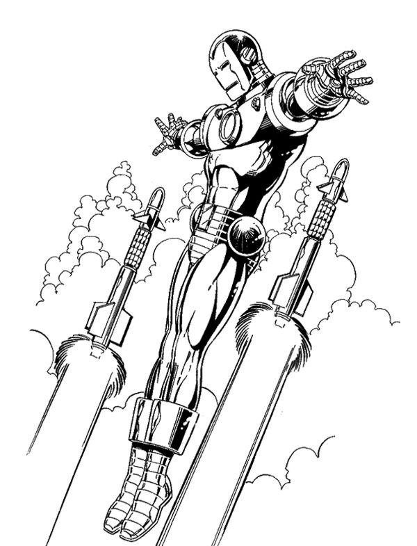 Iron Man Flying Coloring Page Kids Coloring Pages Pinterest - new hulkbuster coloring pages
