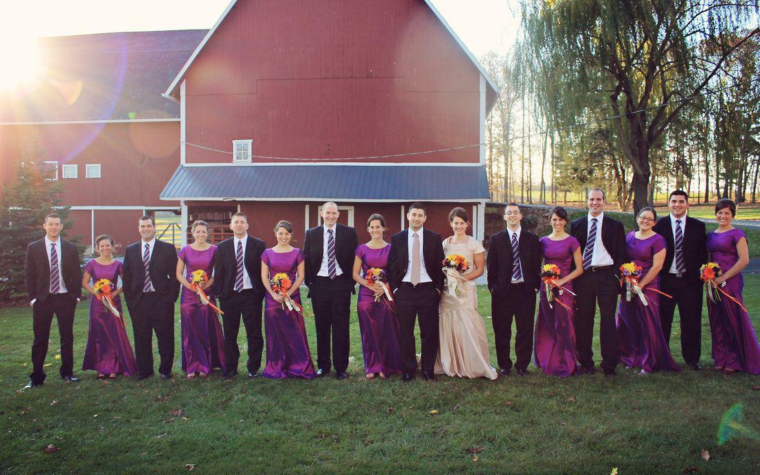 Wedding Party, Barn Cleveland & Akron Ohio Photography