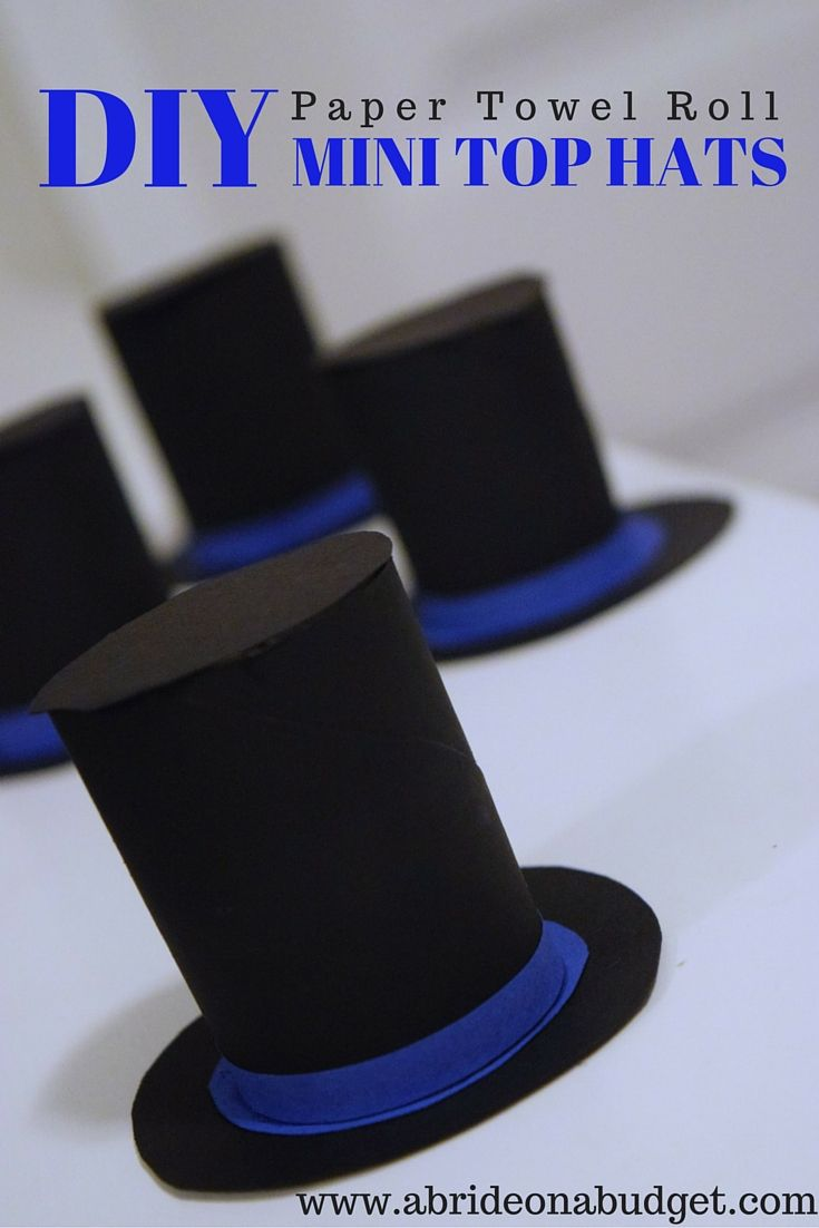 Diy Paper Towel Roll Mini Top Hats Paper Hat Diy Paper Hat Diy Hat