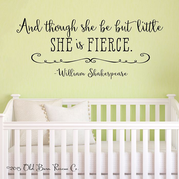 And Though She Be Alt2 - Vinyl Wall Decals & Stickers