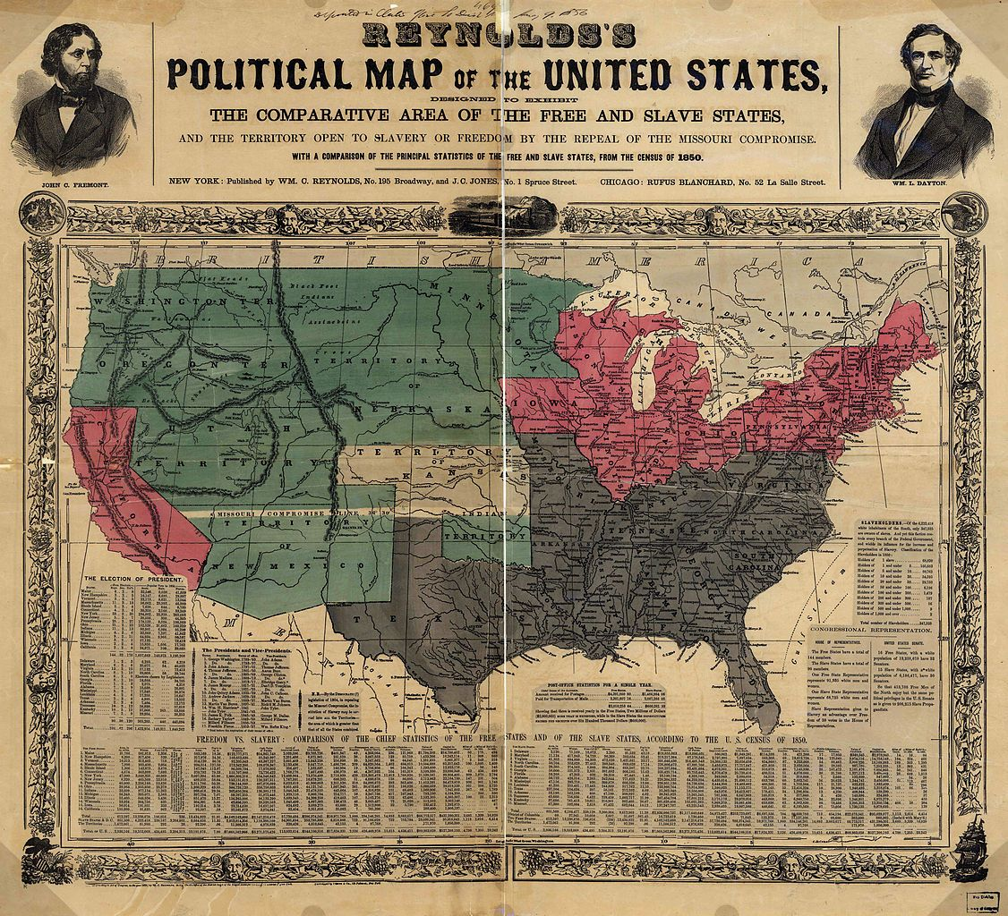 Political Map of the United States in