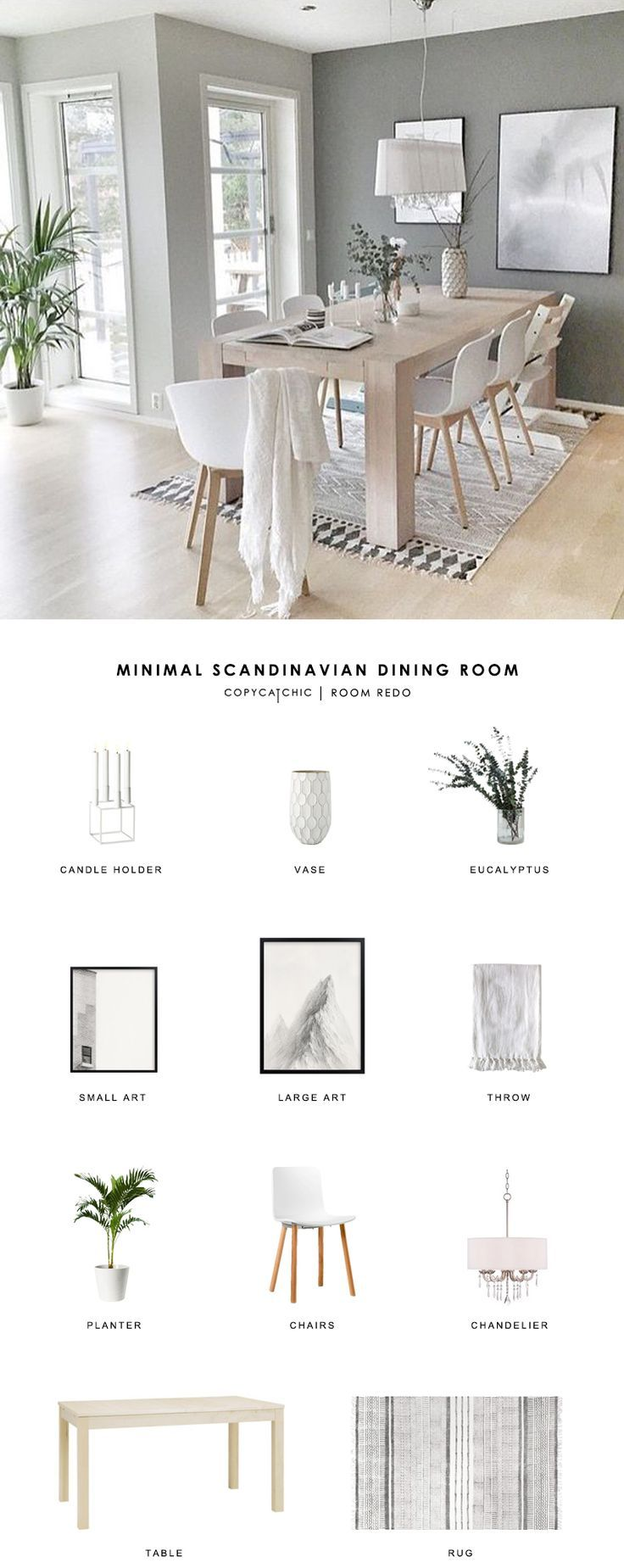 Copy Cat Chic Room Redo | Minimal Scandinavian Dining Room - copycatchic