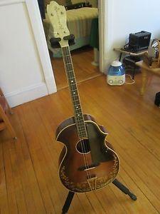 1929 Recording King Venetian Tenor Guitar Adjustable Neck