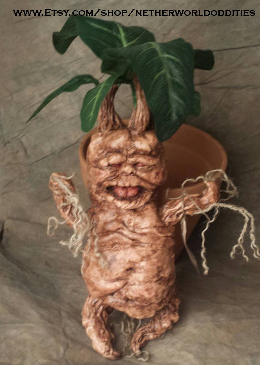 How To Make A Mandrake Sculpture With Mold And Casting Process Tutorial Harry Potter Props Harry Potter Mandrake Harry Potter Theme