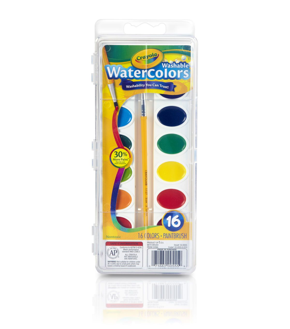 Crayola Watercolor Pan Set 16 Colors In 2019 Watercolor Pans