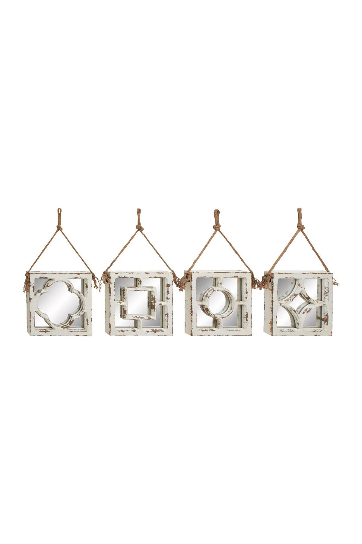 Uma Wood Wall Mirrors Set Of 4 Bed Bath Pinterest Mirror Set