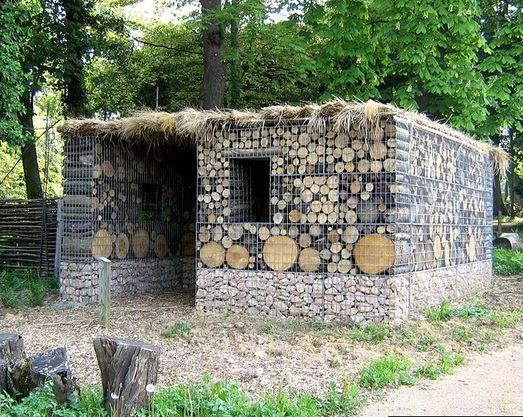 gabion log wood shed gabion ideas pinterest serre cabane de jardin. Black Bedroom Furniture Sets. Home Design Ideas