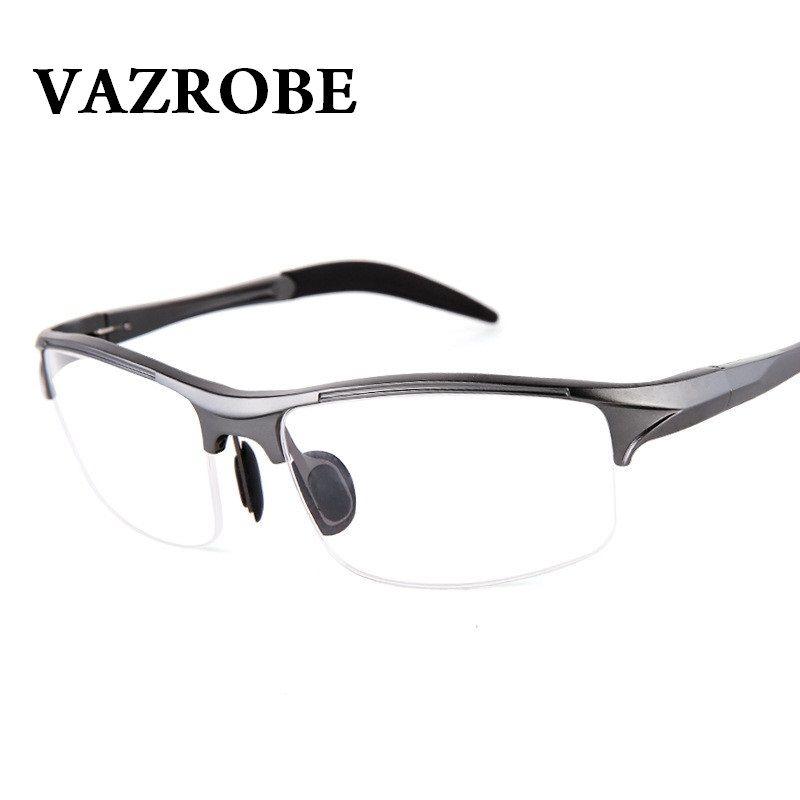 sale vazrobe 146mm aluminum magnesium eyeglasses frame men spring ...