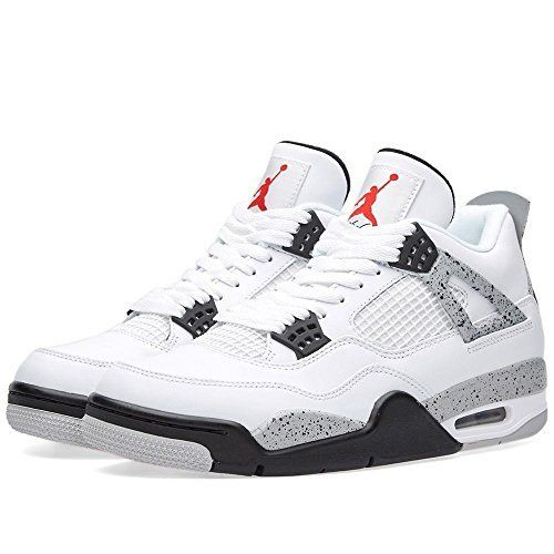 7a4d041ac07 Jordan Air 4 Retro OG Cement Men's Shoes White/Fire Red/Black/Tech Grey  840606-192 (11 D(M) US)