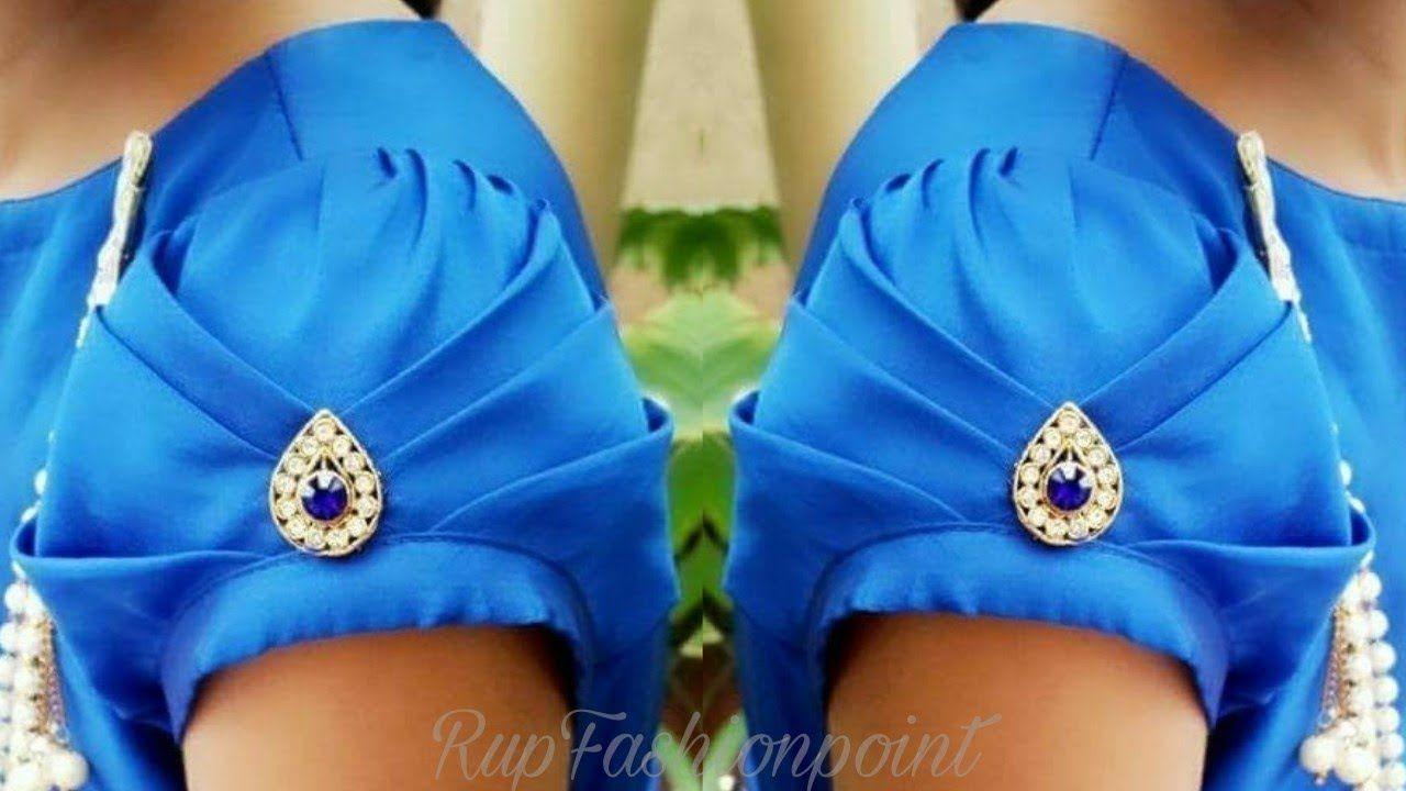 Saree blouse design cutting and stitching beautiful sleeves design cutting and stitching  sleeves  pinterest
