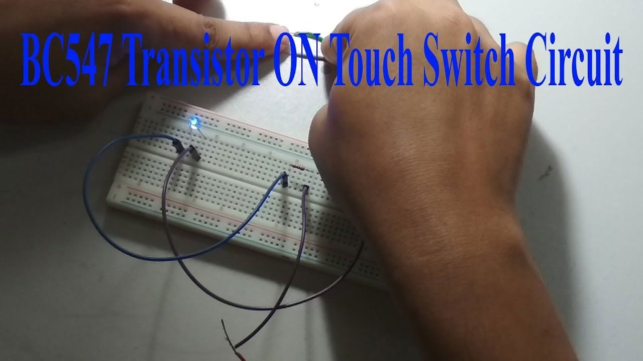 Bc547 Transistor On Touch Switch Circuit Earthbondhon Electronic Circuits