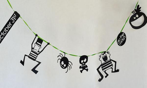 Frank's Friends Halloween Garland--Lettering Delights -