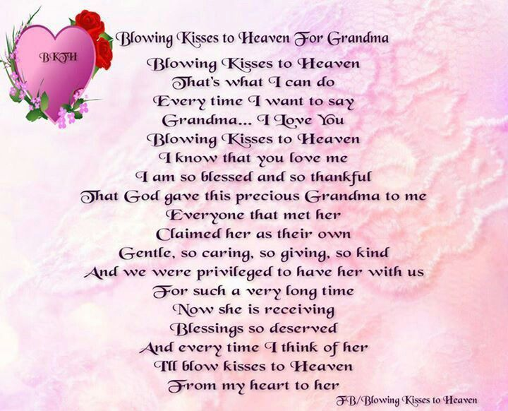 Missing You In Heaven Grandma Quotes Quotes for funerals ...