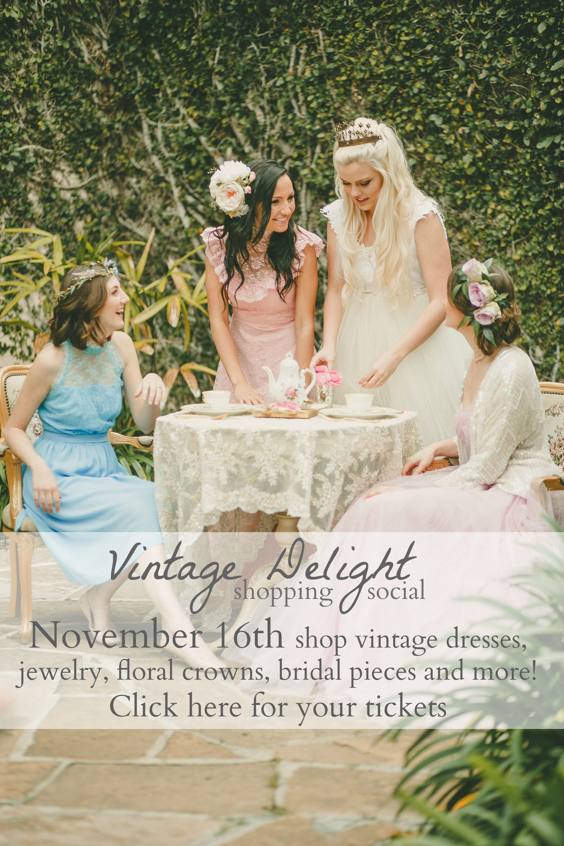 REPIN this now and check out the details! Tag your girlfriends and make it a fun afternoon! Vintage Delight Shopping Social Event hosted by Chariot Marie, Love Sparkle Pretty, Etablir Shop and Mel Scouts with yummy ice cream provided by Mini Scoops! Get your tickets for just $6 which includes entry, ice cream, raffle entries to win hundreds of dollars in GIVEAWAYS, photo booth and more!! http://vintagedelightsocial.eventbrite.com