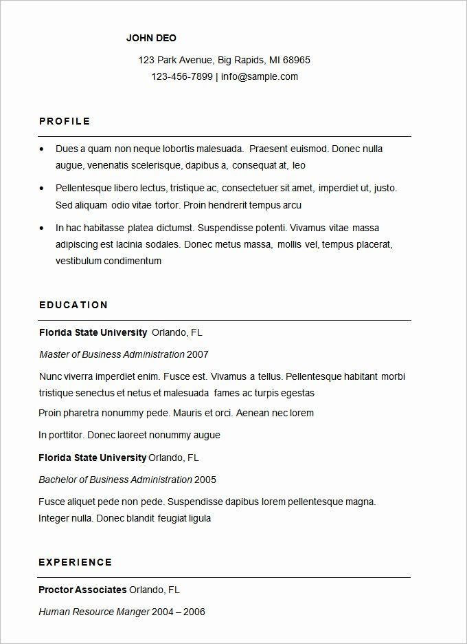 free basic resume templates awesome 70 basic resume