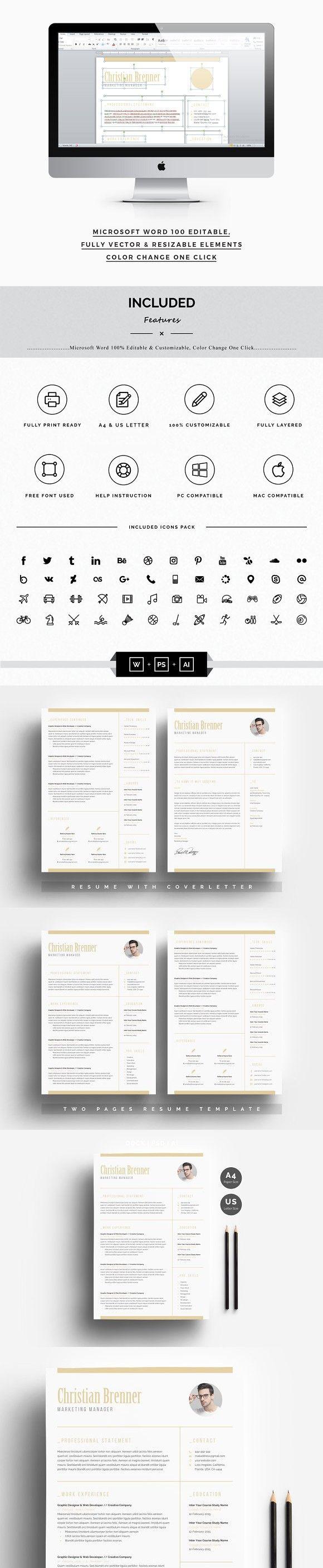 clean word resume 3