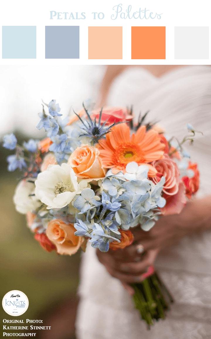 683d9b4efd84 I like this Blue Coral Wedding Bouquet also| Petals to Palettes 13 -  KnotsVilla