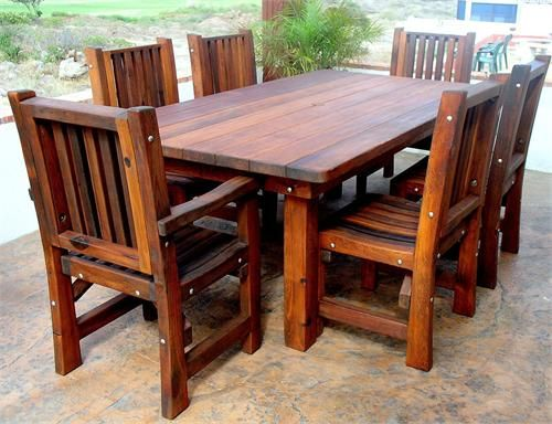 Handcrafted Redwood Patio Furniture Set. Can Be Completely Customized To Be  Built With Different Wood Grades And Whatever Length And Width Needed