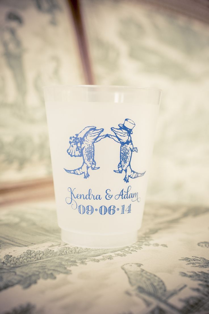 Scriptura Dancing Gators New Orleans-Inspired Wedding Favor Cup ...