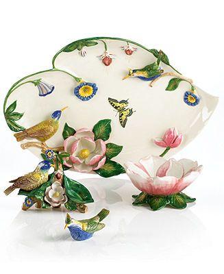 Portmeirion Serveware Botanic Hummingbird Figural Collection