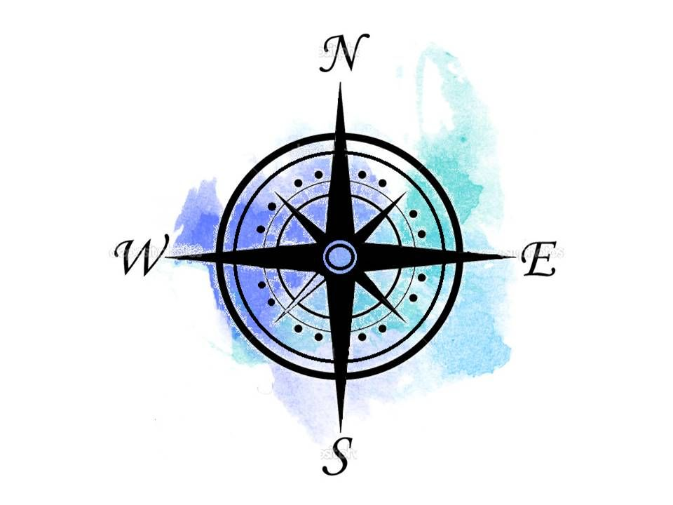 cbc2bce18 Compass watercolor … | Tattoo | Watercolor compass tattoo, Compass ...