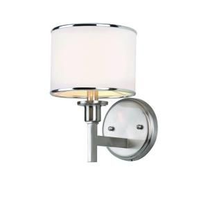 Filament Design Cabernet Collection Brushed Nickel Wall Sconce With White  Linen At The Home Depot 93 Bucks